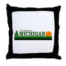 Cute Up north michigan Throw Pillow