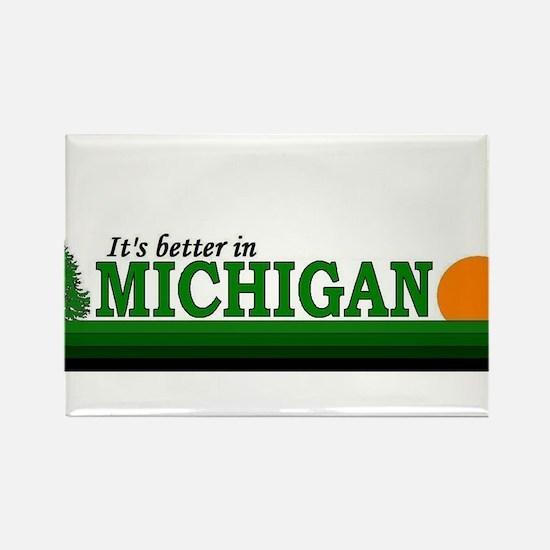 Cute Michigans upper peninsula Rectangle Magnet