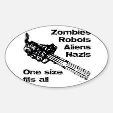 Funny Terminator Sticker (Oval)