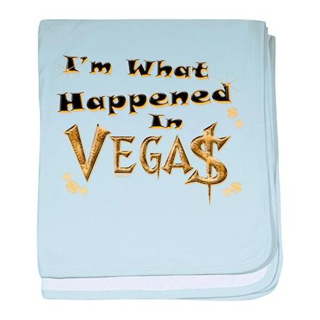 Happened in Vegas baby blanket