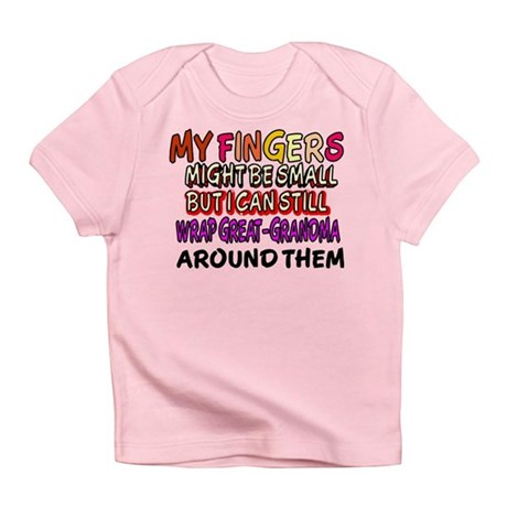 Fingers Wrap Great Grandma Infant T Shirt By Prairiewinds