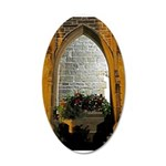 ighted Arch Christ Church 22x14 Oval Wall Peel