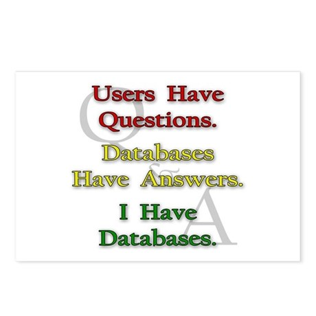 """I Have Databases"" Postcards (Package of 8)"