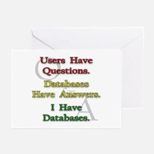 """I Have Databases"" Greeting Cards (Pk of 10)"