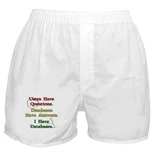 """I Have Databases"" Boxer Shorts"