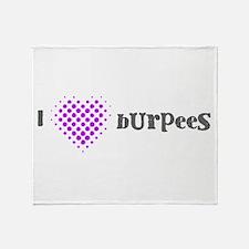 I Heart Burpees - Purple Throw Blanket