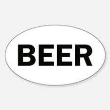Beer Sticker (Oval)