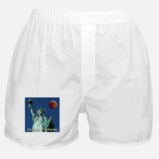 Statue of Liberty Awesome Red Moon Boxer Shorts