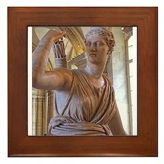 Artemis at the Louvre Framed Tile