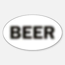 Blurry Beer Sticker (Oval)
