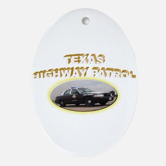 Texas Highway Patrol Ornament (Oval)