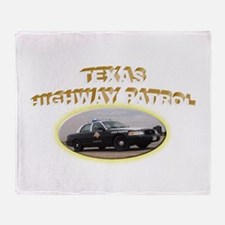 Texas Highway Patrol Throw Blanket