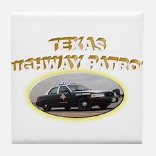 Texas Highway Patrol Tile Coaster