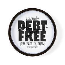 Eternally Debt Free: Paid in Full Wall Clock