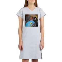 Palm Cockatoos and Hyacinth M Women's Nightshirt