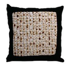 Matzo Mart Throw Pillow (Black)