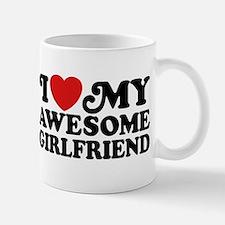 I Love My Awesome Girlfriend Small Mugs