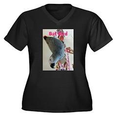 Bat bird Women's Plus Size V-Neck Dark T-Shirt