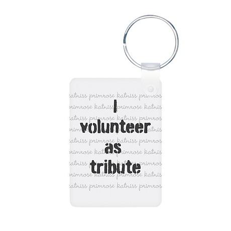 I volunteer as tribute - Aluminum Photo Keychain