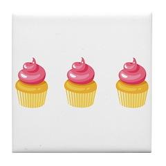Best Friend Cupcakes Tile Coaster