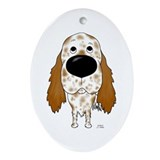English setter Oval Ornaments