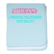 ATHEISM REALITY baby blanket