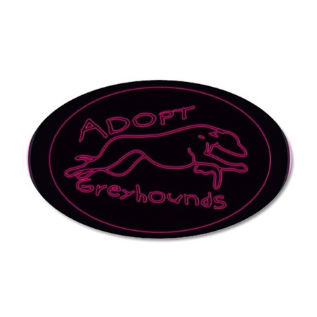 Even More Greyhounds! 38.5 x 24.5 Oval Wall Peel