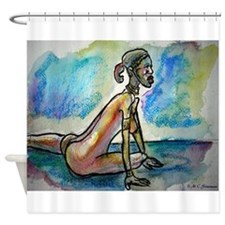 African, woman, art, Shower Curtain