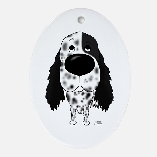 Big Nose English Setter Ornament (Oval)