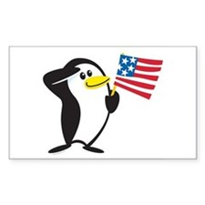 Proud Penguin: Rectangle Decal