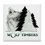 Wolf Timbers Logo Tile Coaster