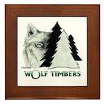 Wolf Timbers Logo Framed Tile