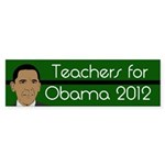 Teachers for Obama 2012 bumper sticker