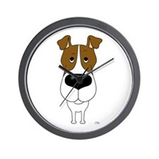 Big Nose Fox Terrier Wall Clock