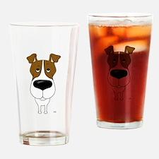 Big Nose Fox Terrier Drinking Glass