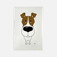 Big Nose Fox Terrier Rectangle Magnet