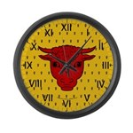 Populace Badge Large Wall Clock