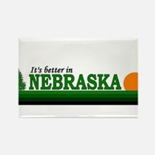 Cool Nebraska cornhuskers Rectangle Magnet