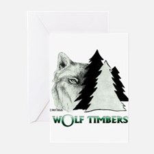 Wolf Timbers Logo Greeting Cards (Pk of 10)