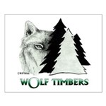 Wolf Timbers Logo Small Poster