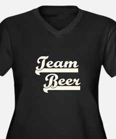 Team Beer Women's Plus Size V-Neck Dark T-Shirt