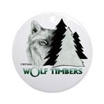 Wolf Timbers Logo Ornament (Round)