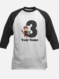 3rd Birthday Pirate Kids Baseball Jersey
