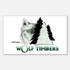 Wolf Timbers Logo Rectangle Bumper Stickers
