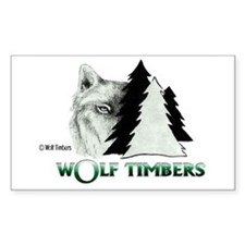 Wolf Timbers Logo Rectangle Decal
