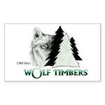 Wolf Timbers Logo Rectangle Sticker