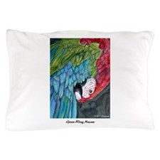 Macaw, green winged,art! Pillow Case