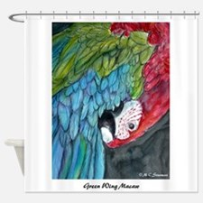 Macaw, green winged,art! Shower Curtain