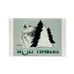 Wolf Timbers Logo Rectangle Magnet (100 pack)