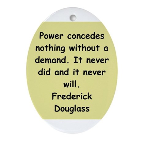 frederick douglass gifts and Ornament (Oval)